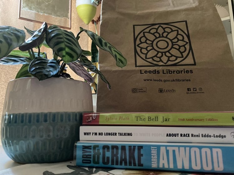 Books and a paperbag