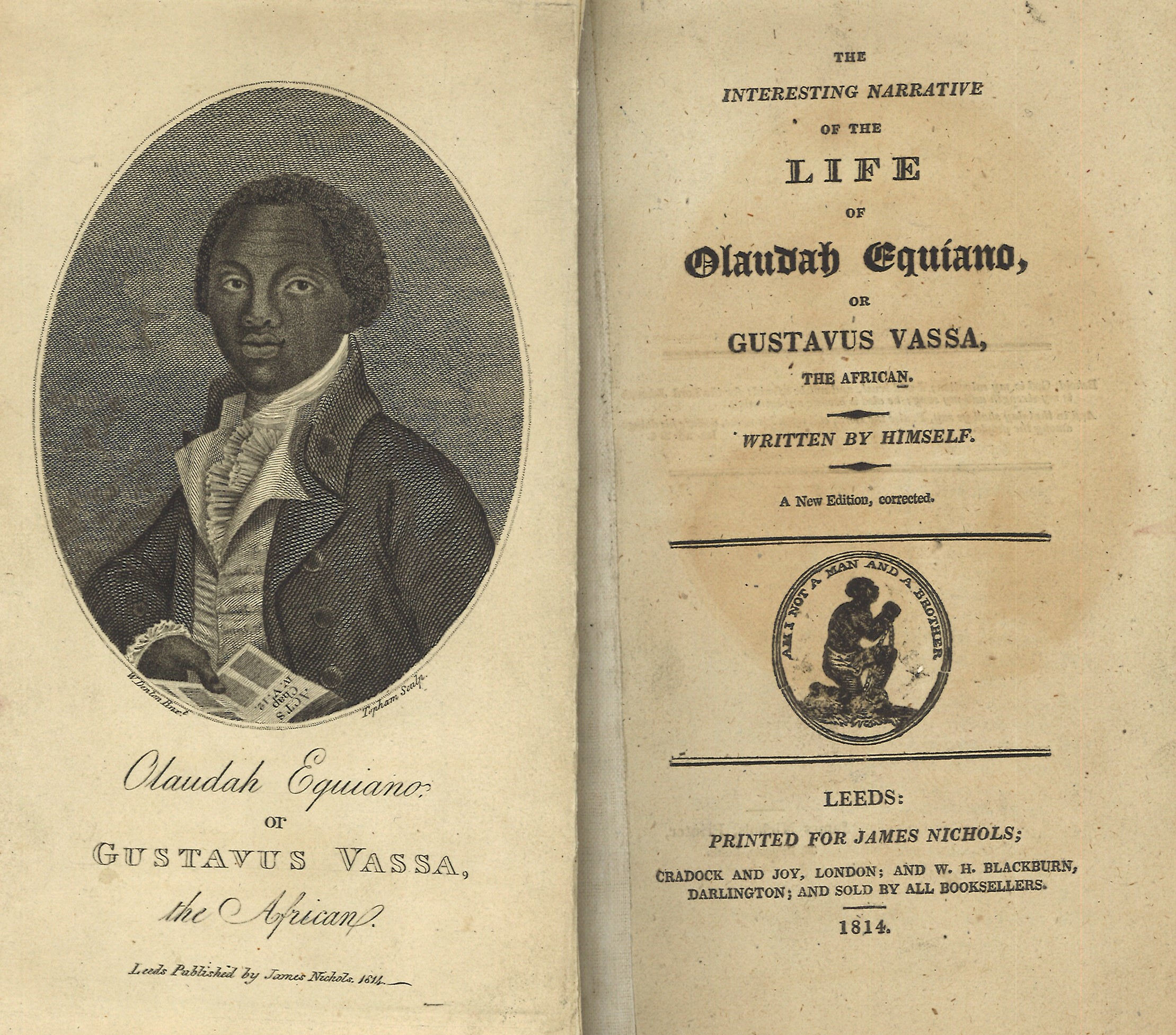 pages from The Life of Olaudah Equiano published in 1789