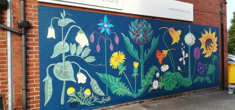 Garforth Edible Flower Mural