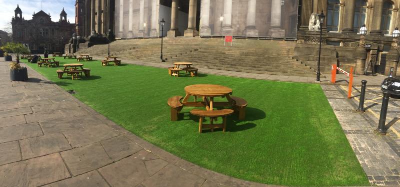 Leeds Town Hall Pop Up Park