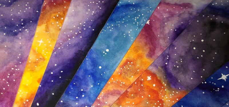 Watercolour Galaxy Bookmarks Workshop with Poppy Jennings