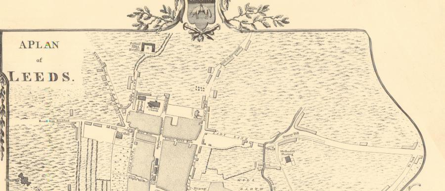 a map of Leeds town centre from 1770