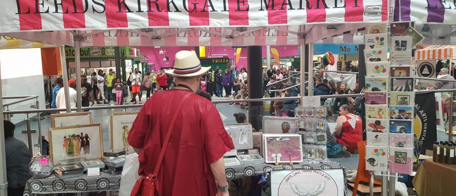A man at a market stall