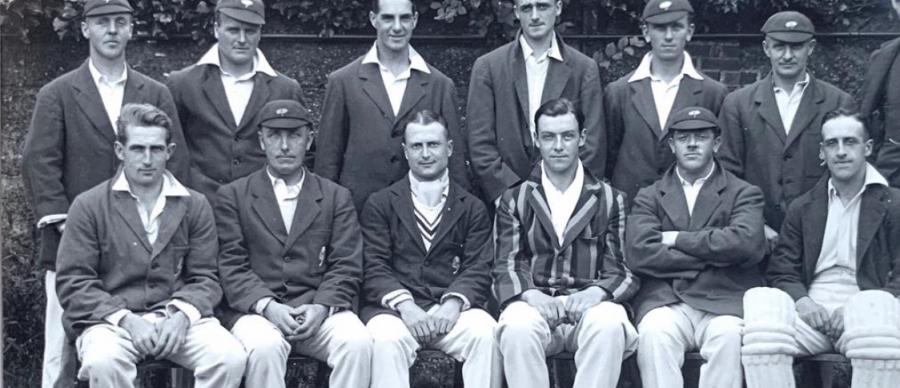 Photograph of a Yorkshire Cricket Team