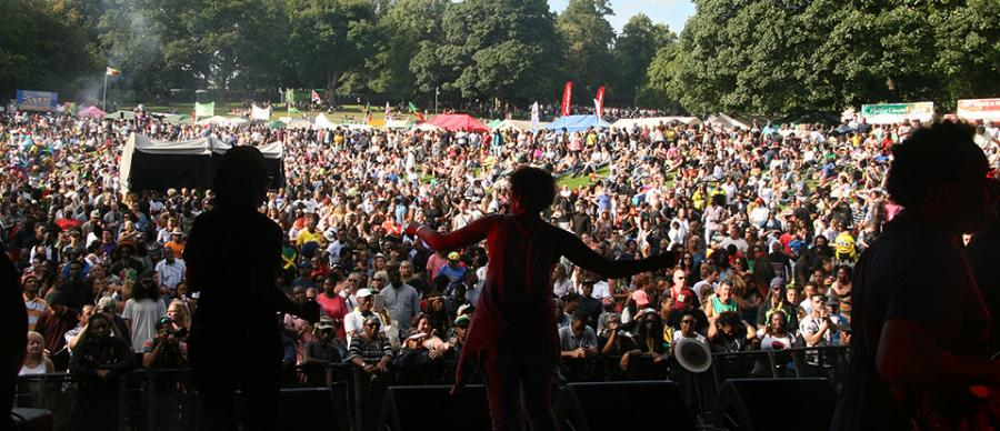 a crowd shot from a previous outdoor festival