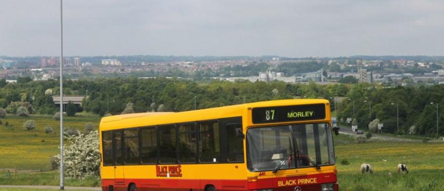 Black Prince number 87 bus with Morley destination sign which often frequented Morley.