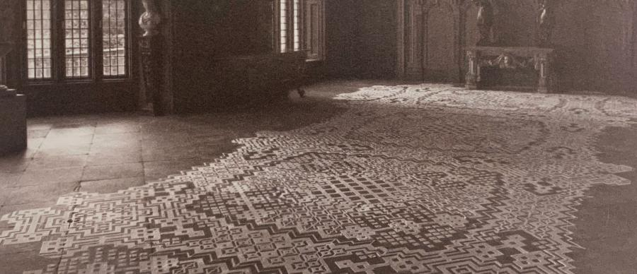 lace laid out on the floor