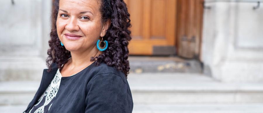 Author Katy Massey, Writing Caribbean Life Stories workshop lead