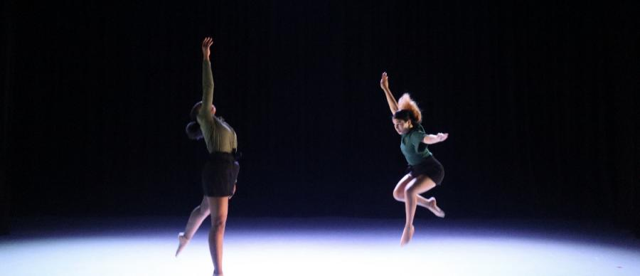 Two dancers from Phoenix Dance Youth Academy performing
