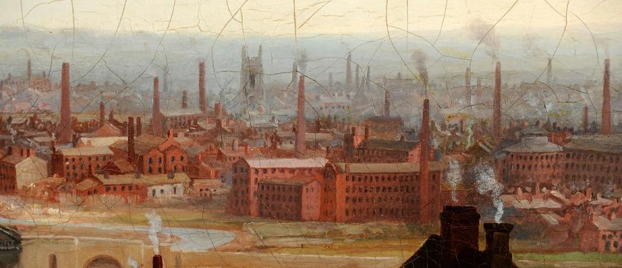 Painting of Industrial Leeds