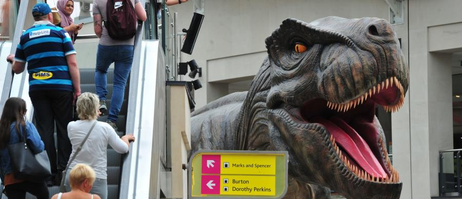Massive moving, roaring T-Rex is one of 13 dinosaurs on display this summer in Leeds and free to see