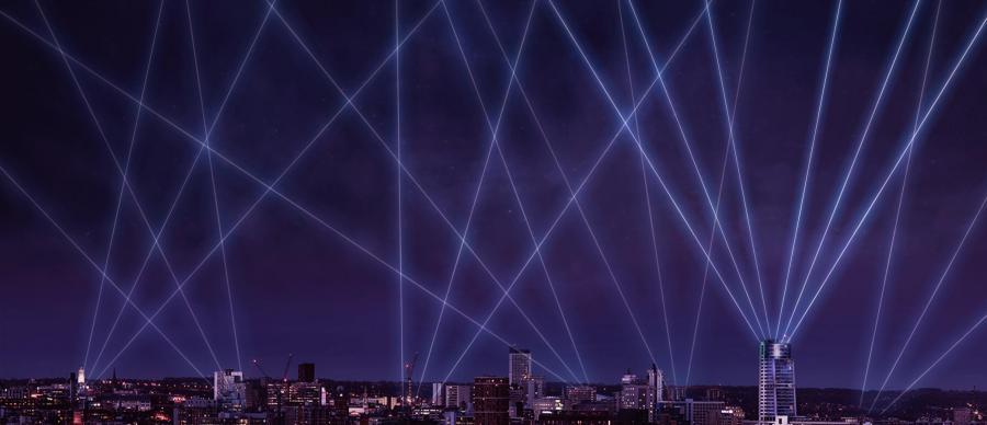 Mock-up of Laser Light City