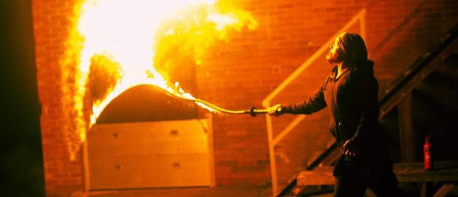 Performer - Joe Ferguson - Fire Whip Cracking