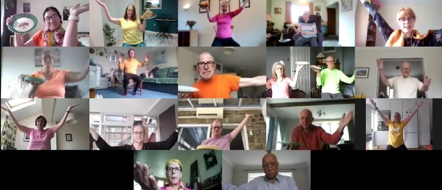 Dance with Parkinson's, Monday morning energising movement, online class, Zoom