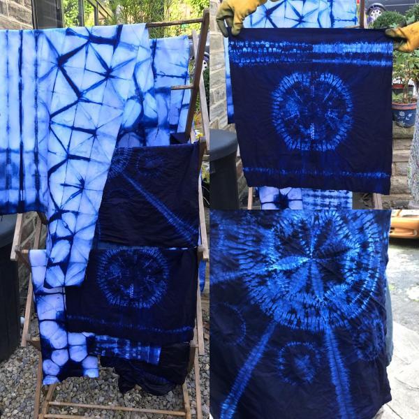 Stitched Shibori Sarong