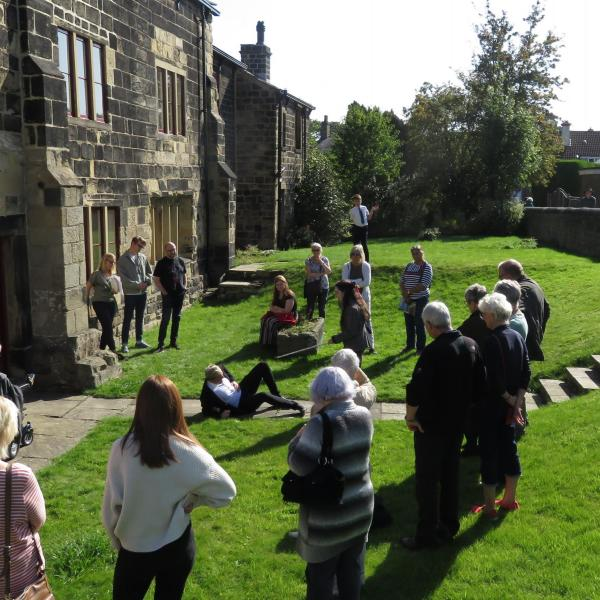Guests enjoying an open day at Calverley Old Hall, West Yorkshire