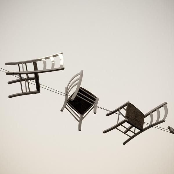 chairs on a cable