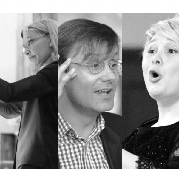 5 photos of our guest conductors.