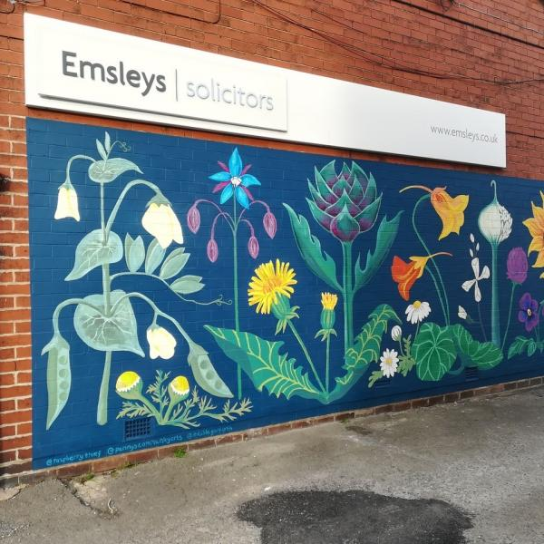 Garforth Edible Flower Mural
