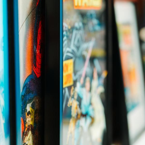 Comic Books on Shelf