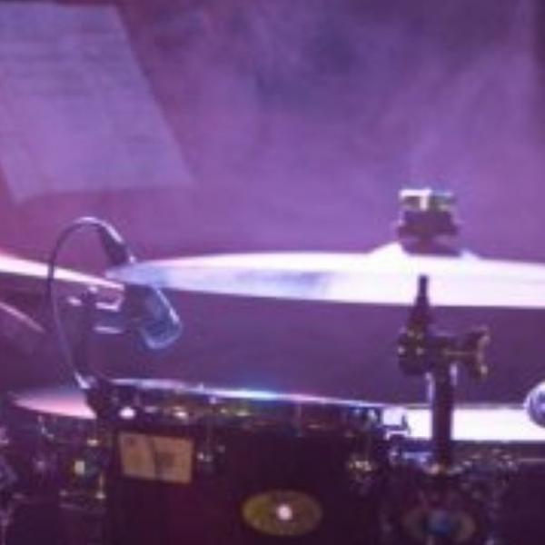 Image of jazz drum kit taken at Wardrobe Leeds during 2019 JazzLeeds Festival