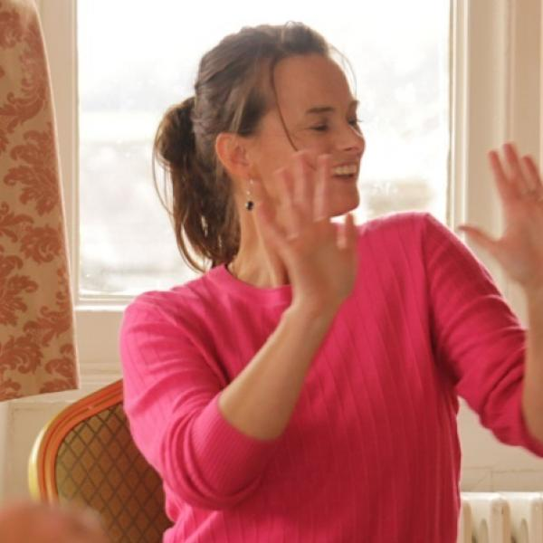 Dance with Parkinson's, Tuesday morning gentle stretch, optional weighted movement, seated