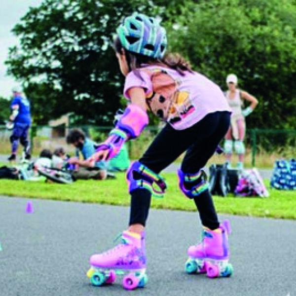 Mini Pop-Up Roller Rink with Roller Girl Gang